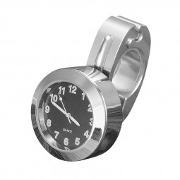Universal Vintage Motorcycle Bike Handlebar Mount Clock Watches - Silver
