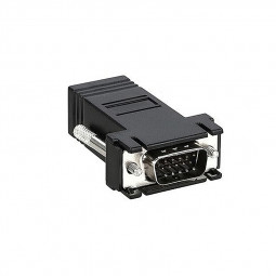 VGA Male to RJ45 Female LAN CAT5 DB15 Network Cable Extend Adapter