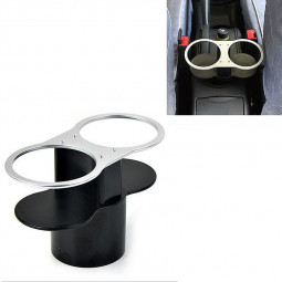 Auto Car Mount Dual Hole Drink Can Drinking Bottle Cup Holder Stand