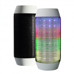 Pulse HIFI LED Light Wireless Bluetooth Speaker Stero Subwoofer for Samartphones - White