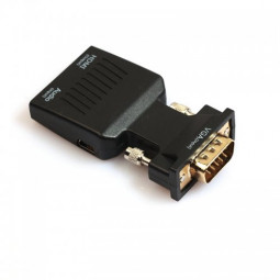 1080P VGA Male to HDMI Female Converter Adapter with Audio