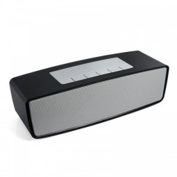 Mini Portable Bluetooth Wireless TF USB Speaker for Smartphones - Black