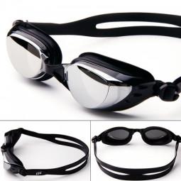 Adjustable Anti Fog Waterproof Glasses Swimming Goggles - Black