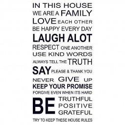 In This House We Are Family Quote Wall Sticker Home Room Decal