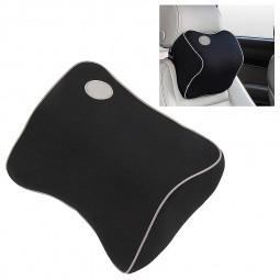 Universal Car Seat Headrest Pad Cushion Head Neck Pillow - Black