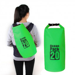 20L Outdoor Waterproof Sport Swimming Camping Hiking Dry Bag Pouch - Green
