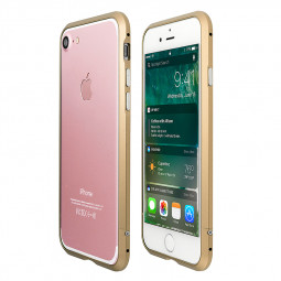 Slim Shockproof Aluminum Alloy Metal Bumper Case Cover for iPhone 7/8 - Gold