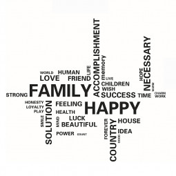 English Letter Family Happy Living Room Wall Sticker Wallpaper