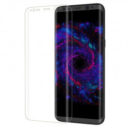 3D Full Coverage Tempered Glass Screen Protect Flim for Samsung S8 with Retail Package - Transparent