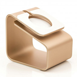 Aluminum Metal Charging Stand Docking Station Holder for Apple Watch iWatch - Gold