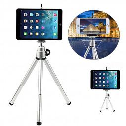 Portable Folding Mini Tripod Holder Stand for Smartphone iPad - Silver
