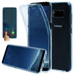 Full Body 360 Degree Slim Case TPU Phone Cover for Samsung Galaxy S8 - Blue