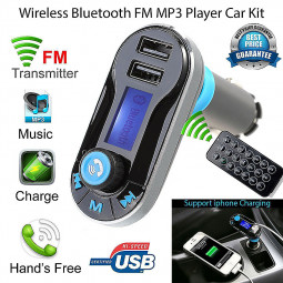 Wireless Bluetooth Dual USB Charger Handsfree Car MP3 Player FM transmitter - Silver
