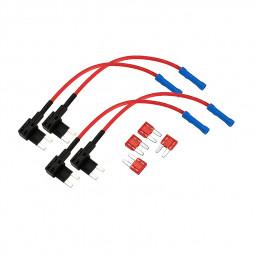 4Pcs Car Auto Add A Circuit Fuse Tap Piggy Back Mini Blade Fuse Holder