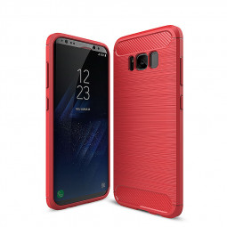 Shockproof Soft TPU Case Phone Cover for Samsung Galaxy S8 Plus - Red