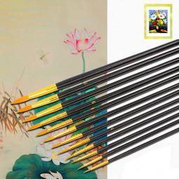 12Pcs Nylon Painting Pen Art Paint Brush Drawing Tool Set