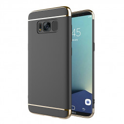Ultra-thin 3 in 1 Plating Hard PC Shell Case for Samsung Galaxy S8 - Black