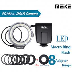 FC-100 LED Macro Ring Flash Light for Canon Nikon Olympus DSLR Camera