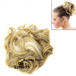 Elastic Curly Scrunchy Hair Bun Updo Hairpiece Ponytail Extensions - Q6 22H613