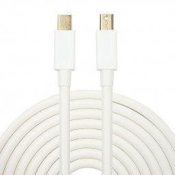1.8m Mini Display Port Male to Male Extension Cable - White