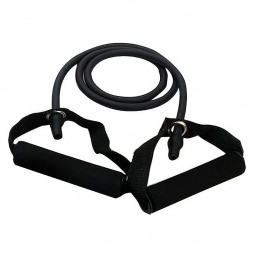25 Pounds Sports Bands Gym Exercise Tubes Stretch String for Yoga Workout Band - Black