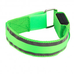 Sports LED Light Up Arm Band Night Safety Reflective Strap Armband - Green