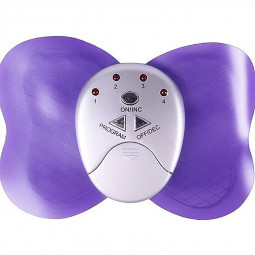 Mini Electronic Butterfly Design Body Fitness Muscle Massager - Purple