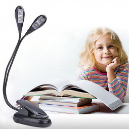 LED Clip Lamp Desk Stand Reading Night Light with 4 Led Lights