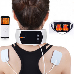 Wireless Remote Control Neck Massager Health Care Cervical Therapy Instrument