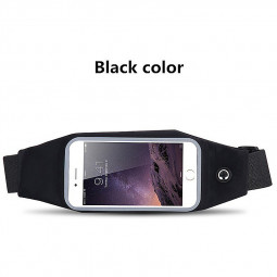 Waist Belt Bag Sport Running Phone Case Cover Pack Pouch for iPhone 6 6s Plus 5.5inch - Black