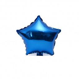 18inch Plain Coloured Star Foil Balloons Party Wedding Home Decor - Blue