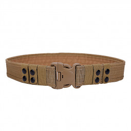 Heavy Duty Belt Police Army Security Guard Utility Quick Release Canvas Belt - Khaki