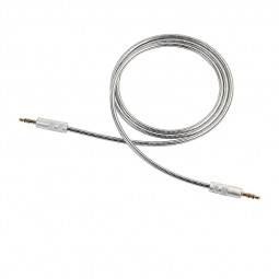 3.5mm Aux Audio Cable Male to Male Metal Spring Audio Cable Line - Silver