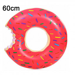 60cm BigMouth Inflatable Gigantic Donut Swimming Pool Ring Float Swim Ring - Pink