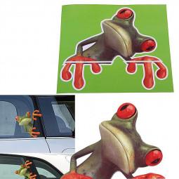 3D Car Stickers Funny Frog Truck Window Decal Vivid Car Decor Sticker