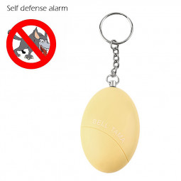 Self Defense Keychain Alarm Egg Shape Personal Security Anti-Attack Protect Safety Alarmer - Yellow