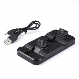 Dual USB Charging Dock Station Charger Cradle for PS4 PlayStation Game Controller