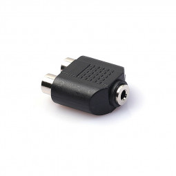 Dual 2-RCA Female Jack to 3.5mm Stereo Jack Y Splitter Audio Cable Adapter