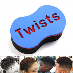 Magic Barber Twists Sponge Foam Hair Brush for Dread Loc Afro Coil Curl - Blue