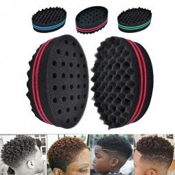 Small Wave Barber Hair Brush Sponge for Dreads Locs Afro Twist Hair Curls Coils - Random Colour