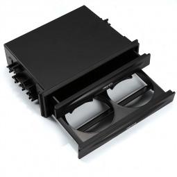 Universal Car Auto Double Din Radio Pocket Drink Cup Holder Storage Box