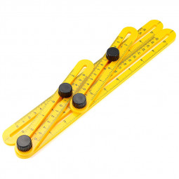 Ruler Slide Template Four-Sided Measuring Instruments Tool Angle-izer Mechanism
