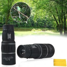 16x52 Dual Focus Zoom Optic Lens Armoring Monocular Telescope for Camping Hiking