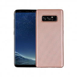 Anti-slip TPU Protective Back Cover Case for Samsung Galaxy Note 8 - Rose Gold
