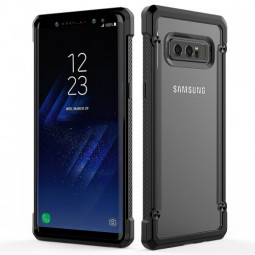 Ultra-thin Protective Back Case Cover for Samsung Galaxy Note 8 - Black Transparent