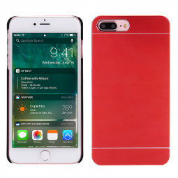 Ultra Thin Slim Fit Shockproof Protective Cover Aluminium Metal Case for iPhone 7/8 Plus - Red