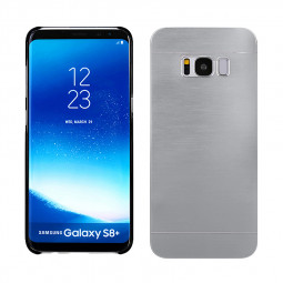 Wire Drawing Case Hybrid Hard Brushed Metal Case Cover for Samsung Galaxy S8 - Silver