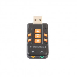 External USB to 3D Audio Sound Card Adapter 8.1 Channel for Win XP/7/8/10 Android Headset Microphone 3.5mm Jack
