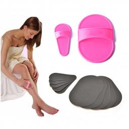 Women's Hair Remover Pad for Facial Hair Smooth Skin Face Legs Arms Magic Buffer Set