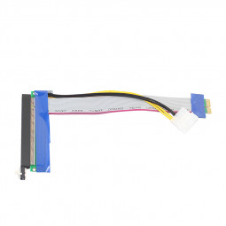 PCI - E 1X to 16X Extender Riser Card Adapter with Power Cable